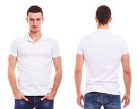 Uomo con la camicia di polo Fotografia Stock