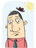 Uomo con la cattiva mattina Fotografia Stock Libera da Diritti