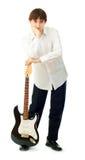 Uomo con la chitarra Immagini Stock