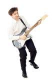 Uomo con la chitarra Fotografie Stock Libere da Diritti