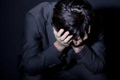 Uomo con la depressione Fotografia Stock Libera da Diritti