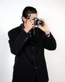 Uomo con la macchina fotografica Immagine Stock Libera da Diritti