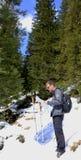 Uomo con la mappa Fotografia Stock