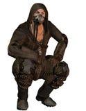 Uomo con la maschera antigas Immagini Stock Libere da Diritti