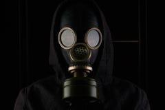 Uomo con la maschera antigas Fotografia Stock Libera da Diritti