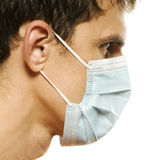 Uomo con la mascherina Fotografia Stock