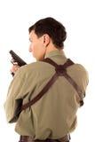 Uomo con la pistola fotografia stock libera da diritti