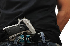 Uomo con la pistola Immagine Stock Libera da Diritti