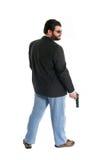 Uomo con la pistola e gli occhiali da sole Fotografia Stock Libera da Diritti