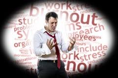 Uomo con la sindrome di burnout Fotografia Stock