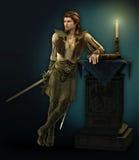 Uomo con la spada illustrazione di stock