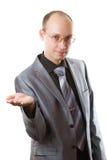 Uomo con la stretta di mano. Isolato Immagini Stock Libere da Diritti
