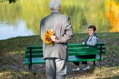 Uomo con la sua moglie fotografia stock libera da diritti