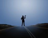 Uomo con la tromba Fotografia Stock Libera da Diritti