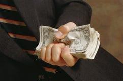 Uomo con le banconote Fotografie Stock