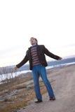 Uomo con le braccia spalancate Immagine Stock Libera da Diritti