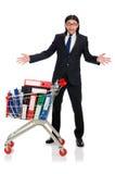Uomo con le cartelle di affari Fotografia Stock Libera da Diritti
