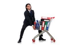 Uomo con le cartelle di affari Immagini Stock