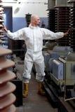Uomo con macchinario Fotografia Stock Libera da Diritti