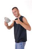 Uomo con soldi Immagini Stock