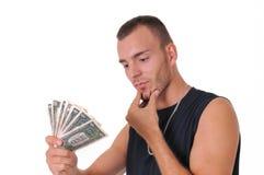 Uomo con soldi Immagine Stock