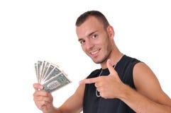 Uomo con soldi Immagini Stock Libere da Diritti