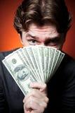 Uomo con soldi Immagine Stock Libera da Diritti