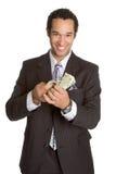Uomo con soldi Fotografia Stock