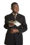 Uomo con soldi Fotografie Stock Libere da Diritti