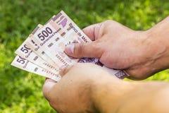 Uomo con soldi Fotografia Stock Libera da Diritti