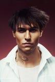 Uomo con taglio di capelli alla moda Fotografia Stock Libera da Diritti