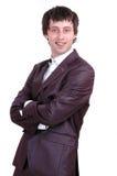 Uomo con un sorriso Fotografia Stock