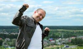 Uomo con un sorriso Fotografie Stock Libere da Diritti