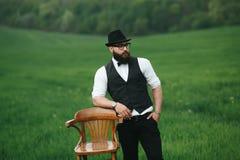 Uomo con una barba Immagini Stock