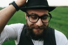 Uomo con una barba Fotografia Stock Libera da Diritti