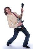 Uomo con una chitarra Immagine Stock Libera da Diritti