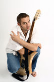 Uomo con una chitarra Fotografia Stock