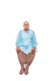 Uomo con una diagnosi di poliartrite Immagine Stock