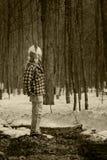 Uomo con una maschera Fotografie Stock