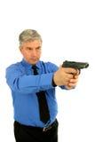 Uomo con una pistola Fotografia Stock Libera da Diritti