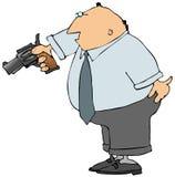 Uomo con una pistola Immagine Stock Libera da Diritti