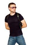 Uomo con una pistola nella custodia per armi Fotografie Stock Libere da Diritti