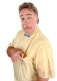 Uomo confuso di Bowtie Fotografia Stock Libera da Diritti