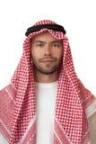 Uomo in copricapo arabo. Fotografie Stock