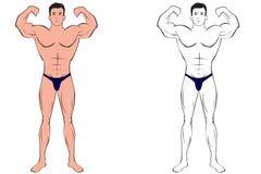 Uomo-corpo Fotografie Stock Libere da Diritti