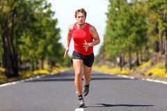 Uomo corrente di sport di forma fisica Fotografia Stock