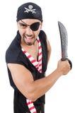 Uomo in costume del pirata Fotografie Stock Libere da Diritti