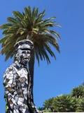 Uomo in costume di carnevale fatto dagli specchi Fotografia Stock