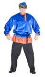 Uomo in costume russo immagine stock