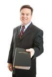 Uomo cristiano con la bibbia Fotografie Stock